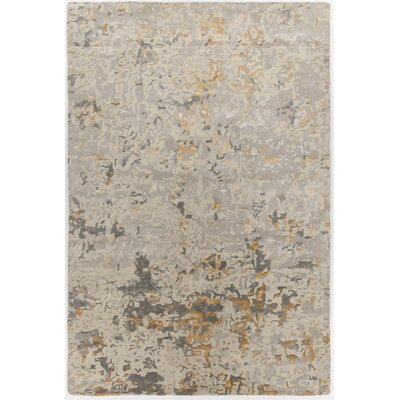 Powell Hand-Tufted Beige Area Rug Rug Size: Rectangle 79 x 106