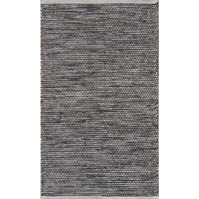 Parker Hand-Woven Gray/Brown Area Rug Rug Size: 79 x 106