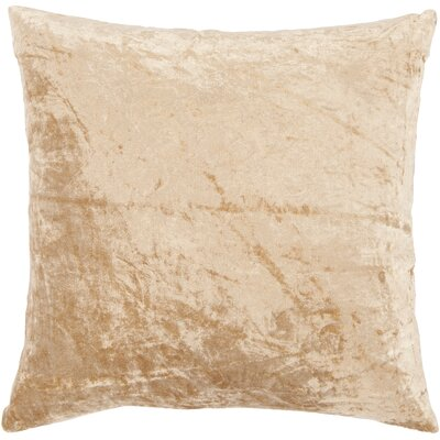 Evonne Handmade Contemporary Throw Pillow Size: 18 H x 18 W, Color: Ivory