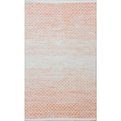 Parker Hand-Woven Orange Area Rug Rug Size: 9 x 13