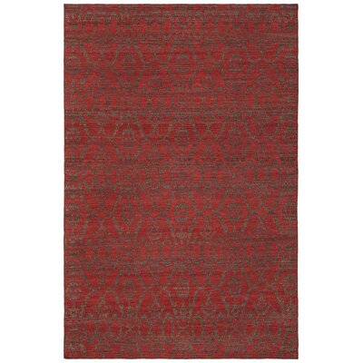 Daria Hand-Woven Wool Red Area Rug Rug Size: Rectangle 5 x 76