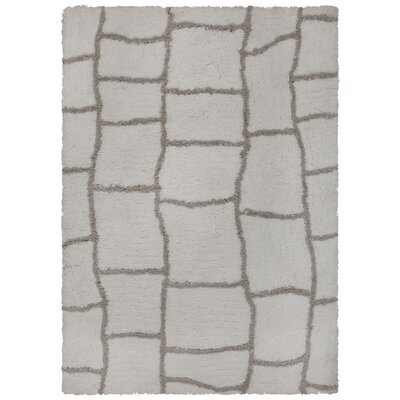 Mekhi Hand-Tufted Gray/Brown Area Rug Rug Size: Rectangle 79 x 106