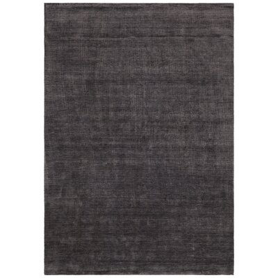 Devonta Hand-Woven Brown/Black Area Rug Rug Size: 79 x 106