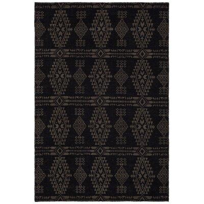 Daria Hand-Woven Wool Black/Beige Area Rug Rug Size: 5 x 76
