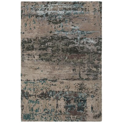 Powell Hand-Tufted Brown Area Rug Rug Size: Rectangle 79 x 106