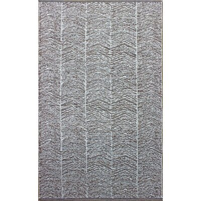 Parker Hand-Woven Gray Area Rug Rug Size: Rectangle 5 x 76