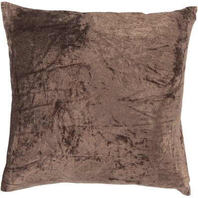 Evonne Handmade Contemporary Throw Pillow Size: 18 H x 18 W x 18 D, Color: Brown