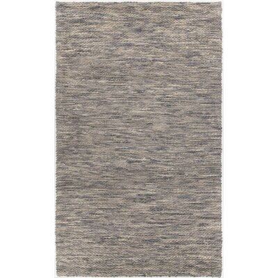 Camacho Hand-Woven Gray/Black Area Rug Rug Size: Rectangle 5 x 76