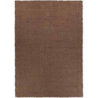 Morrison Hand-Woven Brown Area Rug Rug Size: Rectangle 79 x 106