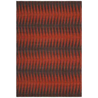 Reagan Hand-Woven Wool Red Area Rug Rug Size: Rectangle 79 x 106