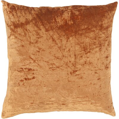 Evonne Handmade Contemporary Throw Pillow Size: 22 H x 22 W, Color: Orange