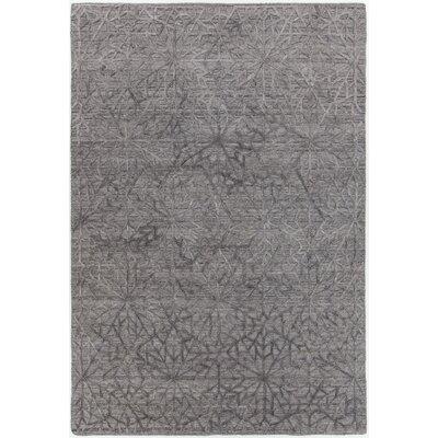 Terri Hand-Woven Gray Area Rug Rug Size: Rectangle 5 x 76