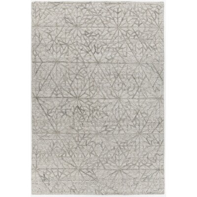 Terri Hand-Woven Light Gray Area Rug Rug Size: Rectangle 5 x 76
