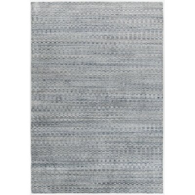 Hernan Hand-Woven Gray Area Rug Rug Size: Rectangle 5 x 76