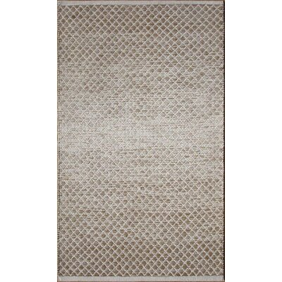 Parker Hand-Woven Brown Area Rug Rug Size: Rectangle 79 x 106