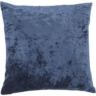 Evonne Handmade Contemporary Throw Pillow Size: 18 H x 18 W, Color: Blue