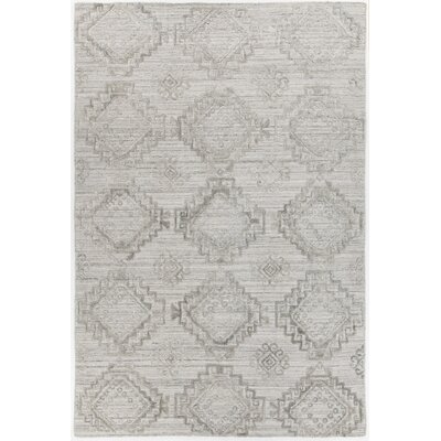 Dominguez Hand-Woven Light Gray Area Rug Rug Size: 79 x 106