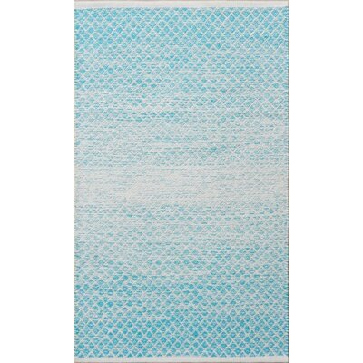 Parker Hand-Woven Blue/Gray Area Rug Rug Size: 79 x 106