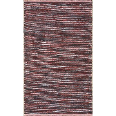 Parker Hand-Woven Red Area Rug Rug Size: Rectangle 79 x 106