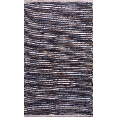 Parker Hand-Woven Black/Gray Area Rug Rug Size: Rectangle 79 x 106