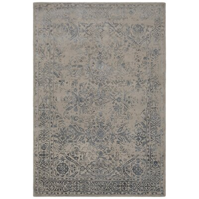 Pappalardo Hand-Tufted Beige/Blue Area Rug Rug Size: Rectangle 5 x 76