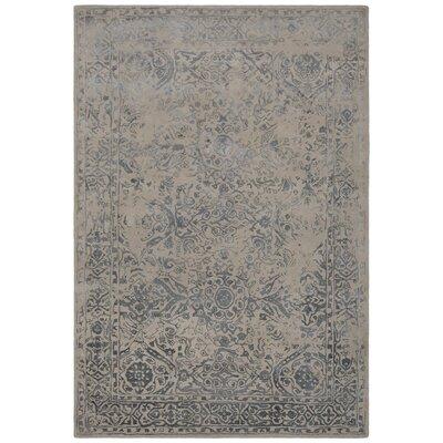 Pappalardo Hand-Tufted Beige/Blue Area Rug Rug Size: 79 x 106