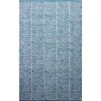 Parker Hand-Woven Blue Area Rug Rug Size: Rectangle 79 x 106
