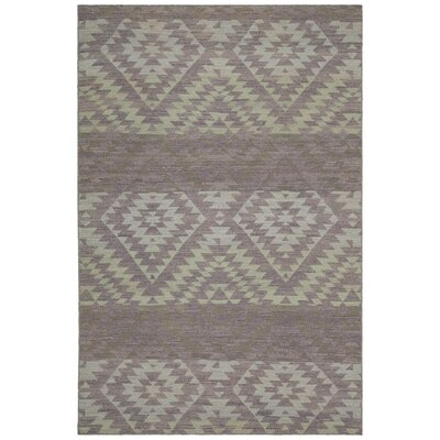 Jones Hand-Woven Brown/Beige Area Rug Rug Size: 79 x 106