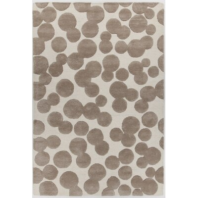Augustus Hand-Tufted Brown/Beige Area Rug Rug Size: 79 x 106