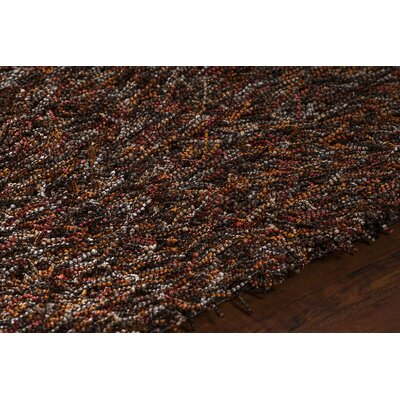 Astrid Rust Black/Red Area Rug Rug Size: 79 x 106