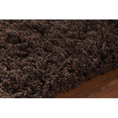 Bancroft Shag Dark Brown Area Rug Rug Size: 79 x 106