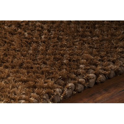 Janey Hand-Woven Brown Area Rug Rug Size: 7'9