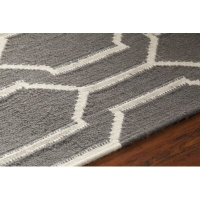 Centeno Patterned Gray/White Area Rug Rug Size: 79 x 106