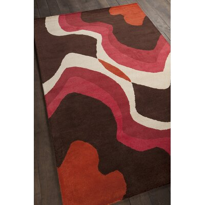 Steveson Patterned Contemporary Brown Area Rug Rug Size: 5 x 76