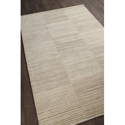 Roxanne Patterned Knotted Wool Brown/Beige Area Rug Rug Size: 79 x 106