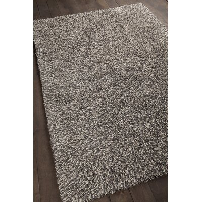 Eleanor Hand-Woven Gray Area Rug Rug Size: 79 x 106