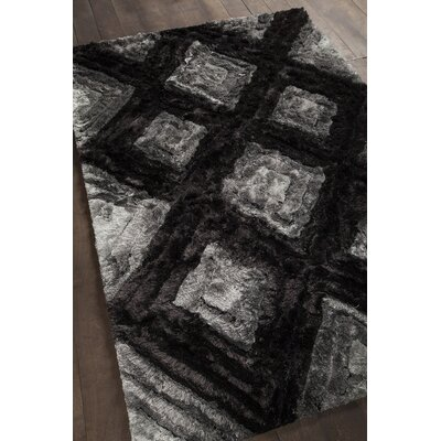 Helene Shag Charcoal Area Rug Rug Size: 5 x 76