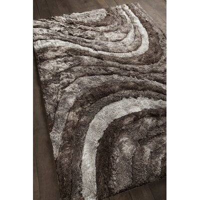 Helene Shag Gray Area Rug Rug Size: Rectangle 5 x 76