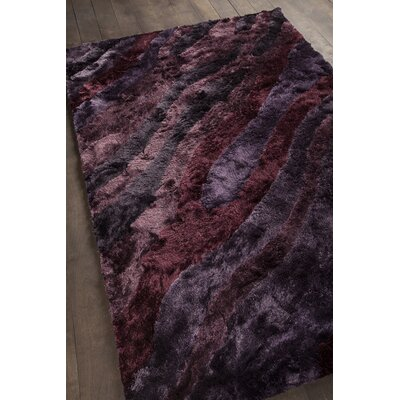 Helene Shag Purple Area Rug Rug Size: Rectangle 5 x 76