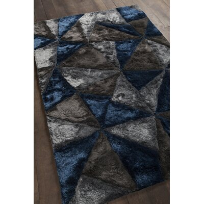 Flemish Shag Dark Grey Area Rug Rug Size: 5 x 76