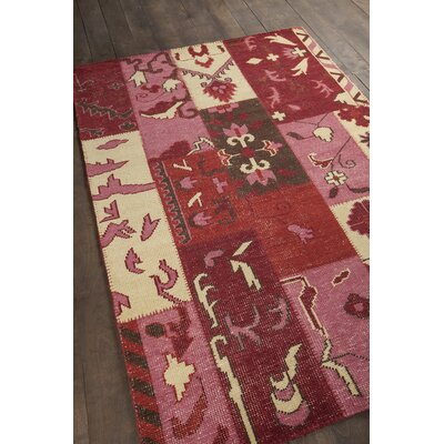 Fusion Patterned Contemporary Pink/Red Area Rug Rug Size: 79 x 106