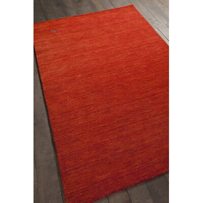 Stockstill Hand-Knotted Red Area Rug Rug Size: Rectangle 5 x 76
