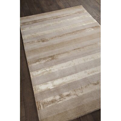 Gardenia Light Grey Stripes Area Rug Rug Size: 5 x 76