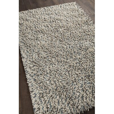 Sharene Hand-Woven Blue/Cream Area Rug Rug Size: 5 x 76