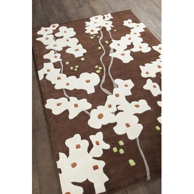 Inhabit Designer Dark Brown/Ivory Area Rug Rug Size: 79 x 106