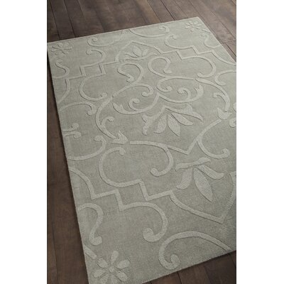 Mali Wool Blue Floral Area Rug Rug Size: Rectangle 7 x 10
