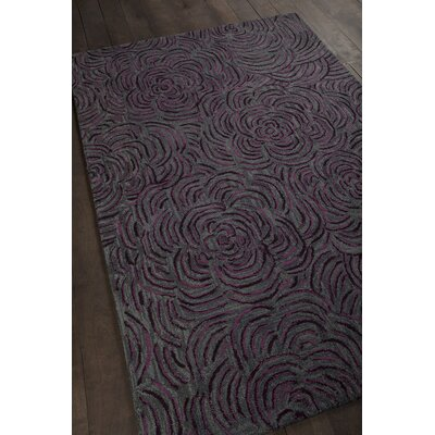 Wagstaff Hand-Woven Burgundy/Gray Area Rug Rug Size: 79 x 106