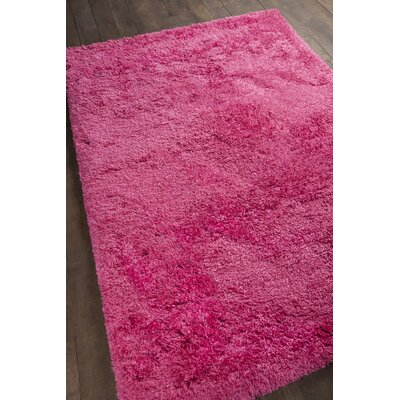 Osim Hand-Woven Hot Pink Area Rug Rug Size: 36 x 56