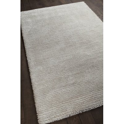 Royal White Area Rug Rug Size: 79 x 106
