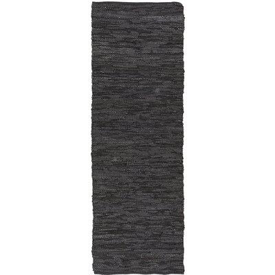 Saket Black Area Rug Rug Size: Runner 26 x 76